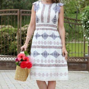 Loft Floral Dress Sz 2 NWOT